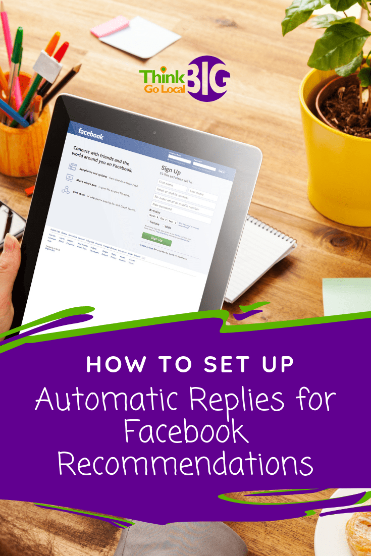 How to Set up Automatic Replies for Facebook Recommendations